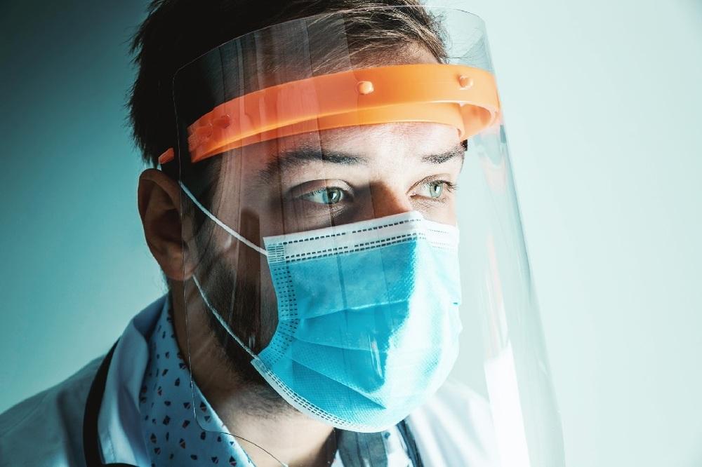 Essential worker wearing PPE